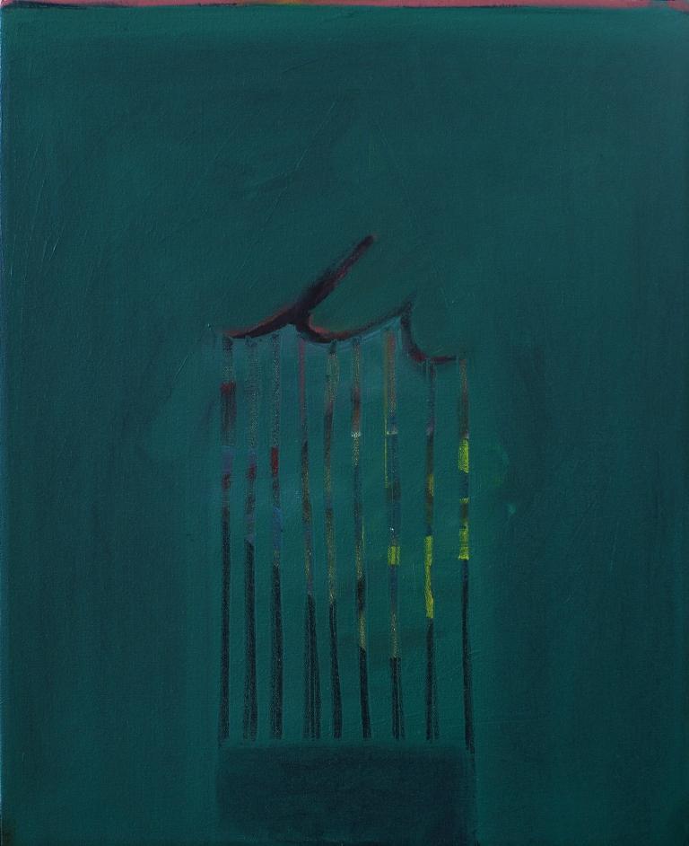 """Curtain, oil on canvas, 16x20"""", 2013"""