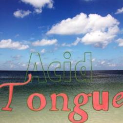 """acid tongue, gouache on digital photograph, 22.75""""x16.125"""", 2015"""