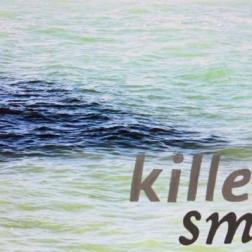 "killer smile, gouache on digital photograph, 22.75""x16.125"", 2015"