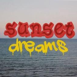 """sunset dreams, gouache on digital photograph, 22.75""""x16.125"""", 2015"""
