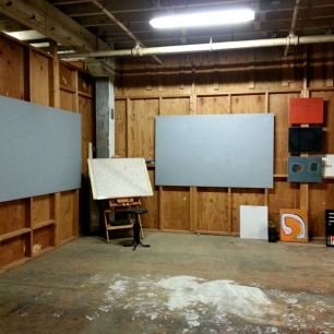 The start of my studio space. © 2013 Frank Juarez. All rights reserved.