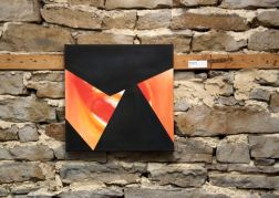 "Emergence IV, oil on canvas, 15""x15"", 2016"