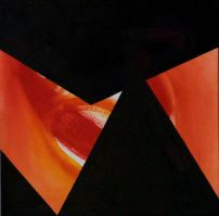"Emergence IV, oil on canvas, 15""x15"", 2016, $225"