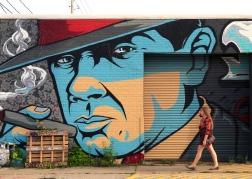 Mural in Crossroads Arts District